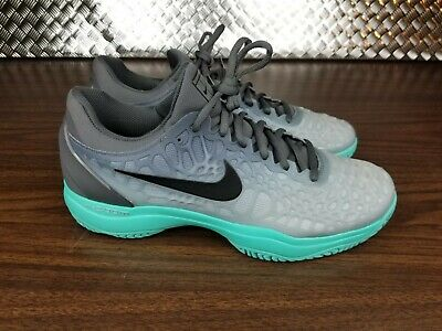 huge selection of 311ad d20d0 Nike NikeCourt Zoom Cage 3 Mens Size 10.5 Grey Aurora Rafael Nadal 918193- 001