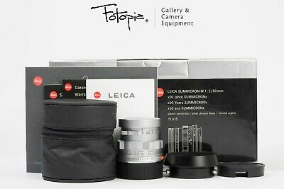 Leica Summicron-M 50mm F2 - Silver / v4 / 50th Jahre - 11615 with full packing
