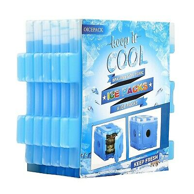 Freezer Pack Lunch Bag 6 Packs Reusable Coolers Cooler Long Lasting Ice Cube NEW