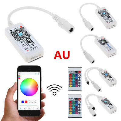 Mini Bluetooth/WiFi LED Controller With IR Remote For RGB&RGBW LED Strip Light