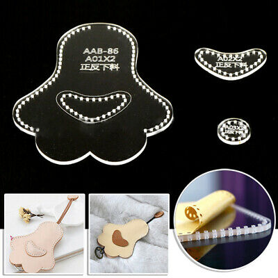 DIY Template kit For Leather Crafts Cartoon Cat-pad Stencil 1pc Sets 9.5*12*2cm