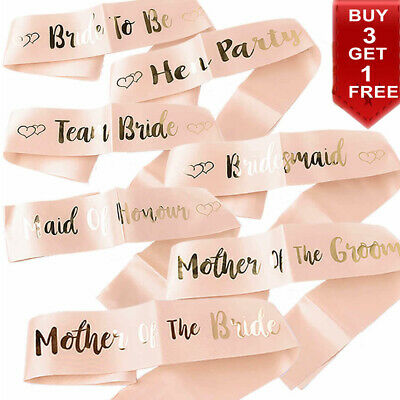 Team Bride To Be Bridesmaid Sash Hen Party Sashes Girls Night Out Accessories