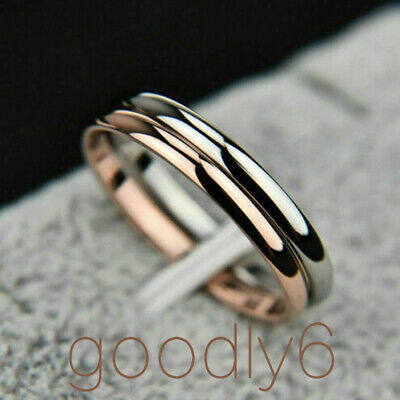 2mm Thin Stackable Ring Stainless Steel Plain Band for Women Girl Size 3-10 gift