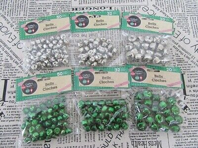 36Pkts Charms Ball Jingle Bell Beads Pendants 3Sizes Mixed
