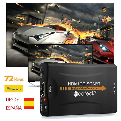 Neoteck HDMI y HDMI a Scart 720p Audio Video convertidor adaptador 1080p USB