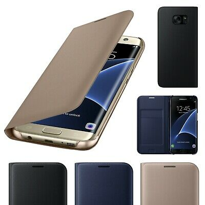 For Samsung Galaxy S7 Luxury Genuine Real Slim Leather Flip Wallet Case Cover