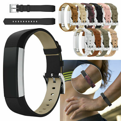 Genuine Leather Wrist Watch Bands Straps Bracelet Replacement For Fitbit Alta/HR