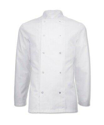 Alexandra White Whites Chef Chefs Double Breasted Press Stud Jacket C2 TH5