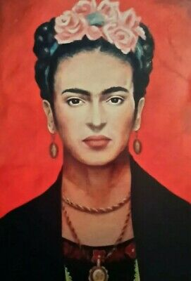"""FRIDA KAHLO RED 7x5"""" PICTURE PRINT WALL ART"""
