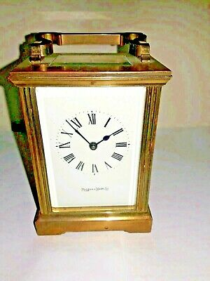 Antique Mappin Webb Ltd Brass Carriage Clock With Key Working Order