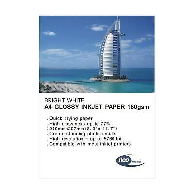 Neo Media Glossy A4 Inkjet Photo Paper 180gsm - 20 Sheets