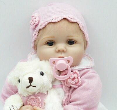 Reborn Real Looking Toddler Doll 22''55cm Realistic Lifelike Baby Girl Presents