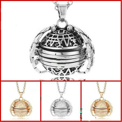 Good Expanding Photo Locket Necklace Pendant Angel Wings Gift Jewelry Decoration