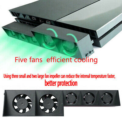 5 Fan For PS4 Game Accessories Play Station4 Host Cooling Fan Cooler External US