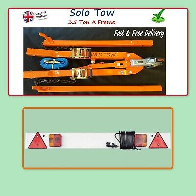 Solo Tow A Frame 3.5 Ton Rec Pro Heavy Duty Frame With Tow Board 1.215 10M Cable