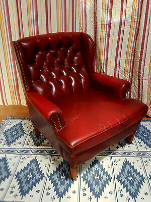 Chesterfield Sessel aus echtem Leder