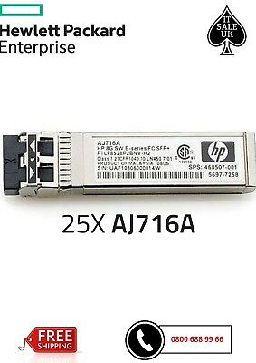 850nm AJ716A Fiber Channel SFP HP 8G B-Series Shortwave