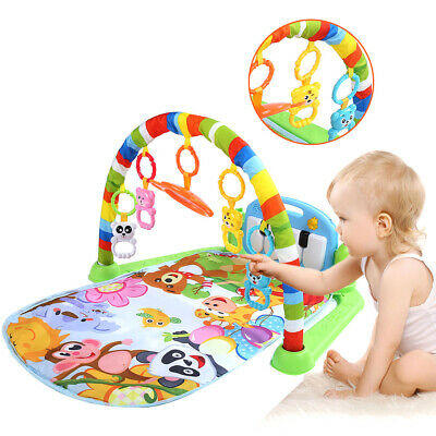 Baby Gym Play Mat Lay and Play 4 in 1 Fitness Music Lights Fun Piano XMAS Toy