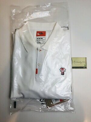 79996c0d Limited Edition Sold Out Nike Polo With Frank Patch Tiger Woods Golf White  Large