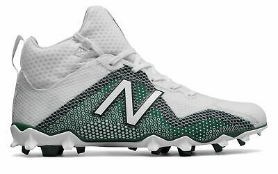 149ad1944caf New Balance Male Men's Freezelx Lacrosse Cleat Adult Shoes White With Green