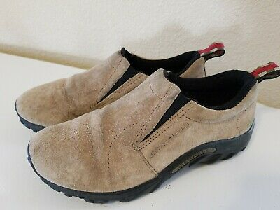 aa393a34a6 Merrell Jungle Moc Classic Taupe Slip On Shoes Youth Boys Size 4 J60501