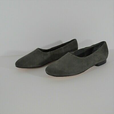 ab71a8816b74 Nordstrom Preview Collection Gray Suede Leather Flats Size 8M NWOT never  worn.
