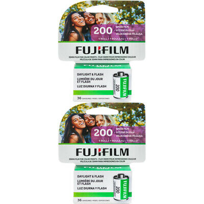 2 Rolls Fuji Fujicolor C200 ISO 200 36 exp. 135-36 35mm Color Film, FRESH DATE