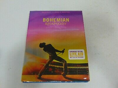 Bohemian Rhapsody (2019: Blu-Ray+DVD+Digital) Brand New