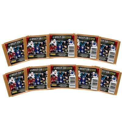 2017-18 Panini NHL Hockey Stickers, 10 Packs of 7 for 70 stickers