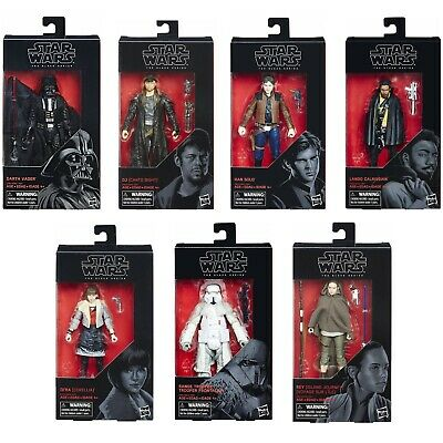 """1 Star Wars 6"""" Action Figure The Black Series Collectible Movie Character In Box"""