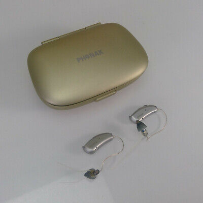 PAIR of PHONAK Audeo HEARING AIDS w/ Carrying Case & Cleaning Tool