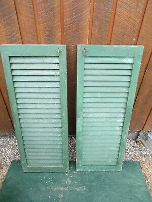 "GREAT OLD  2 SHUTTERS Wooden 39"" long x 15"" Wide Architectural Salvage #10"