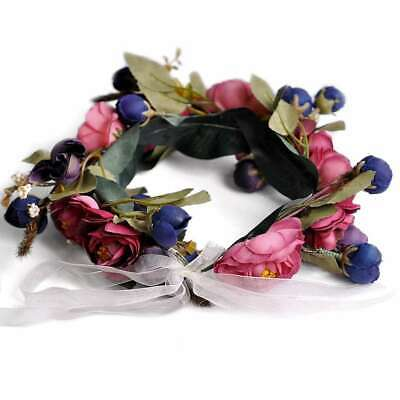 Boho Flower Crown Headband Floral Hair Garland Wreath Headpiece Handmade HS9