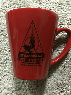 Star Wars Celebration IV/4 Red Logo Coffee Cup! NEW!