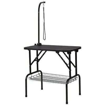 """Giantex 32"""" Pet Grooming Table Durable Foldable Rubber Top PS6895"""