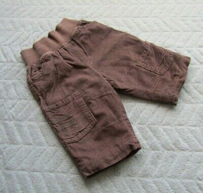 Baby Boys 100% Cotton Brown Corduroy Trousers (3-6 Months) - By Marks & Spencer