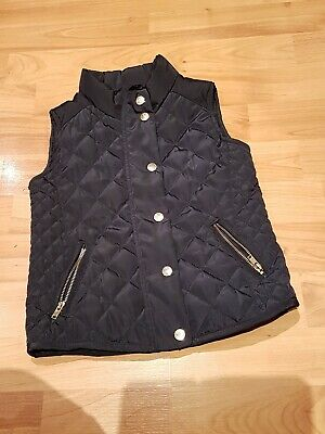 Zara Girls Coat Quilted Poppers And Zip Sleeveless Jacket