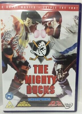 The Mighty Ducks Complete Movies Trilogy Film Collection 3 Discs New Sealed DVD