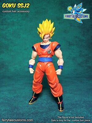 S.H.Figuarts Dragon Ball Z Goku Ssj2 Custom Hair Piece by Ferrytale Customs