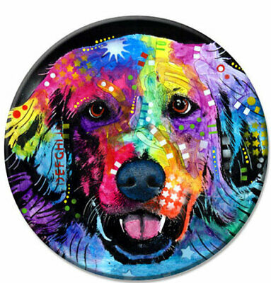 """Dog is love 7/"""" x 10.5/"""" Colorful NEW Dean Russo Dog Sign 445 Golden Retriever"""