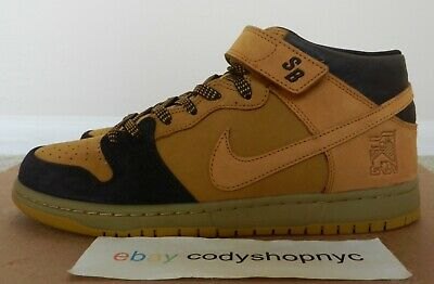 official photos 99883 49e31 DS NIKE SB Dunk Mid Pro Lewis Marnell sz 10.5 Cappuccino Brown Wheat  AJ1445-200