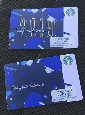 STARBUCKS *** RARE MISTAKE CARD*** NO 2019 ON FRONT~ NO $ Value On Cards