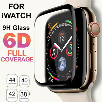 6D Tempered Glass Screen Protector For Apple Watch iWatch 4 3 2 1 38/40/42/44 mm