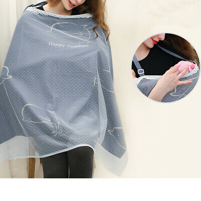 Baby Poncho Shawl Udder Cotton Blanket Mum Breastfeeding Nursing Cover Up DM