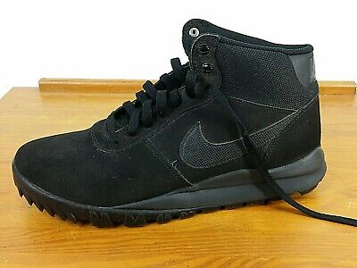 7caae9b01 2014 Nike Hoodland Suede Mens Shoes Black/Anthracite 654888-090 Sz 10.5