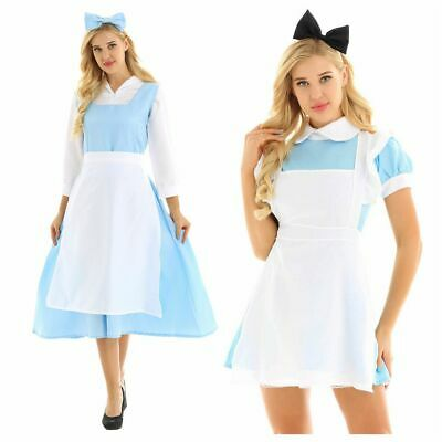 Halloween Women Sexy Lolita French Maid Dress Cosplay Costume Lingerie Outfit