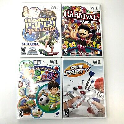 Nintendo Wii Game Bundle Carnival Games Party Trivia Ultimate Party Challenge