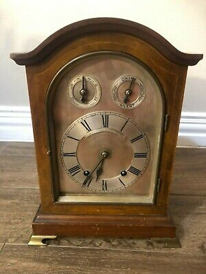 Antique Winterhalder & Hofmeier 8 Day Time & Strike Gong Bracket Mantle Clock