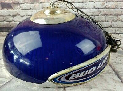 Vintage Budweiser Bud Light Hanging Bar Pub Game Table Lamp Light - Large