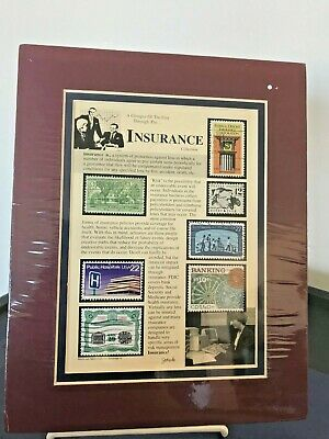"""Stamp Art By Jack Rabbit Studio Inc """"Insurance Collection""""  Rare & Collectible"""